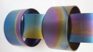 Titánium gyűrűk - színminták