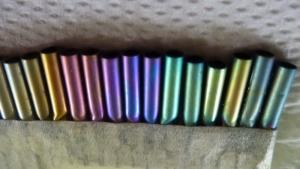 Nióbium színminták